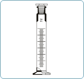 Measuring Cylinder Hexagonal Base